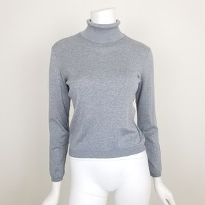 Brooks Brothers XS Gray Turtleneck Sweater Top